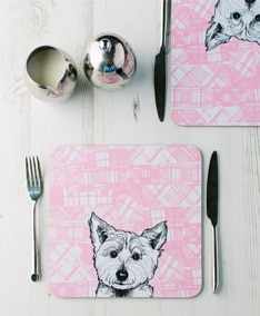 41129 Tartan Westie set of two placemats
