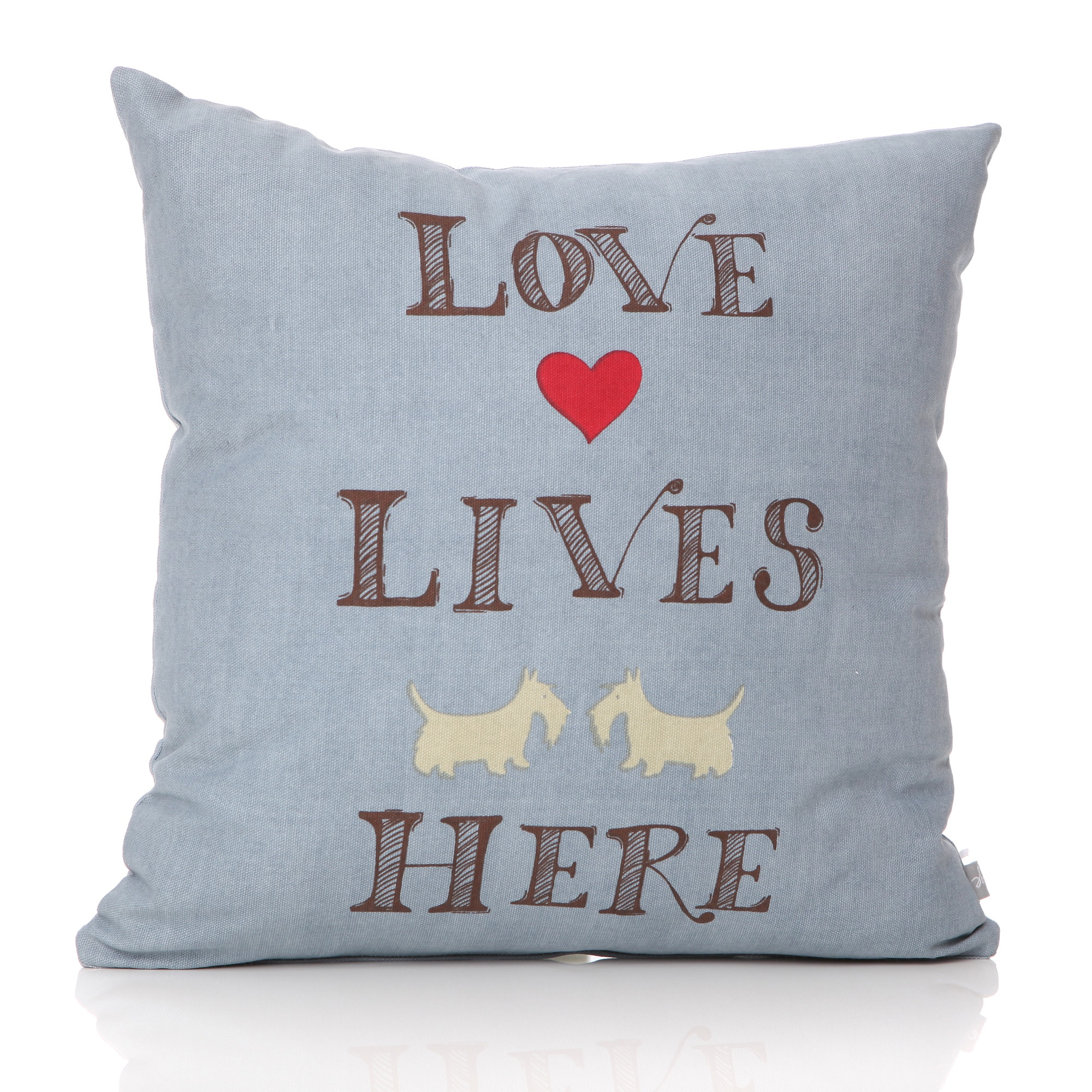 Westie - Love Lives Here Cushion
