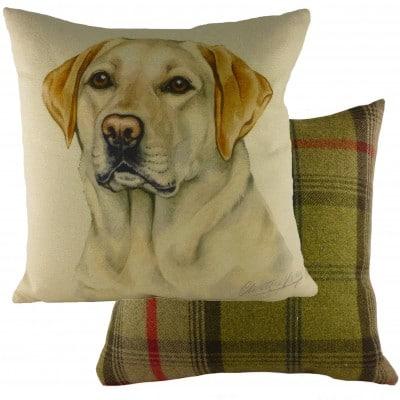 DP928 - 43cm Ke Waggydogz Yellow Labrador Cushion