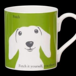 Sausage dog green mug fetch