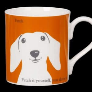 Sausage Dog Mug Orange Fetch