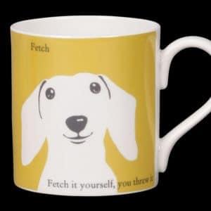 Sausage Dog Mug Yellow Fetch
