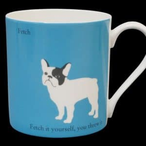 French Bulldog blue mug