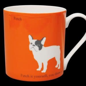 French Bulldog Mug Orange Fetch