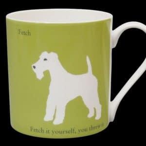 Terrier Mug Green Fetch