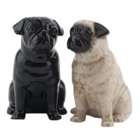 Quail Ceramics pug salt and pepper shakers