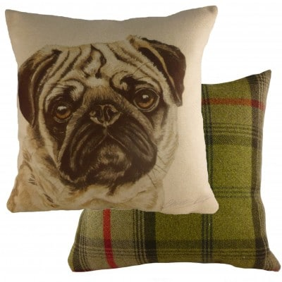 Waggydogz Pug cushion 43cm x 43cm