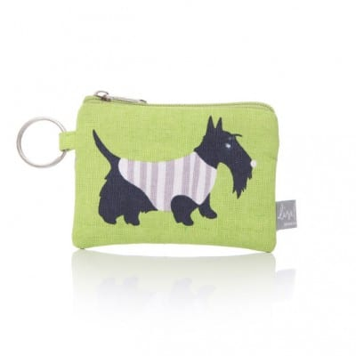 Lisa Buckridge Scottie coin purse green