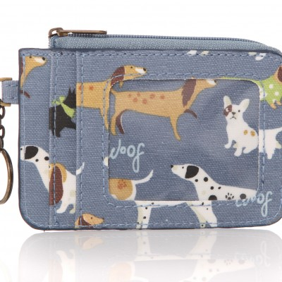 Lisa Buckridge Walkies oilcloth coin purse blue