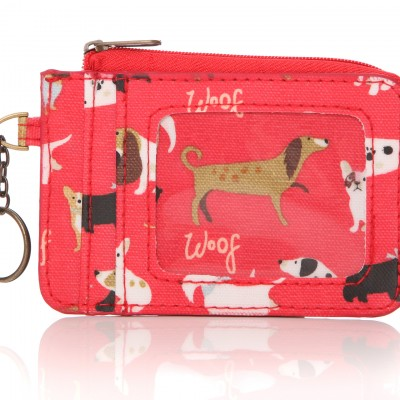 Lisa Buckridge Walkies oilcloth coin purse red