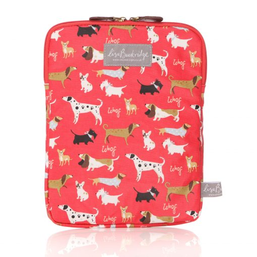 Lisa Buckridge Walkies oilcloth ipad sleeve red