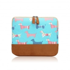 sausage dog ipad cover light blue