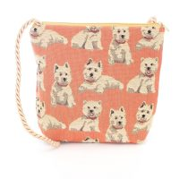 tapestry crossbody bag westie