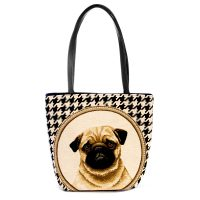 Handmade tapestry Kelly bag Pug
