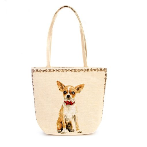 Tapestry Kelly bag Chihuahua