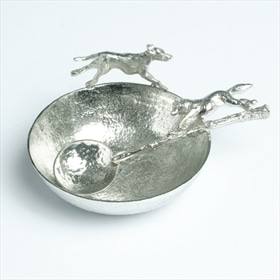 Hound and fox bowl and spoon