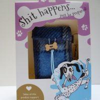 Harris Tweed posh poo bag holder blue check