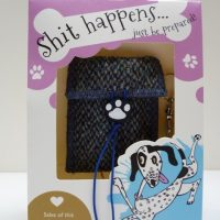 Harris Tweed posh poo bag holder blue twill