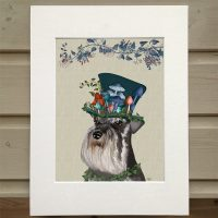 Fab Funky The Milliners Dog Schnauzer print