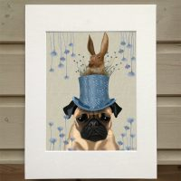 Fab Funky The Milliners Dog Pug print