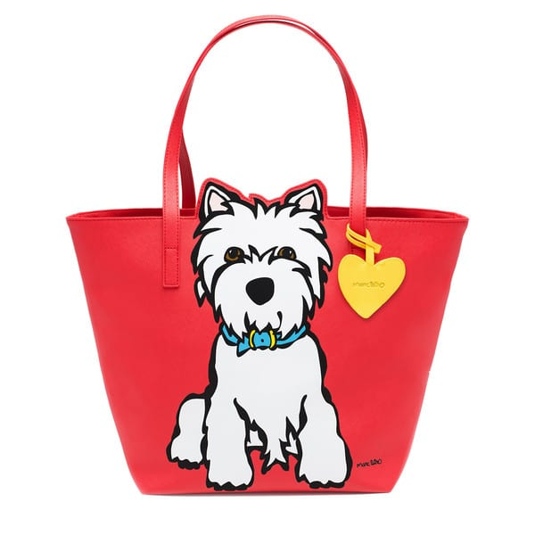 Marc Tetro Westie PVC Tote Bag With Keyring Dangle