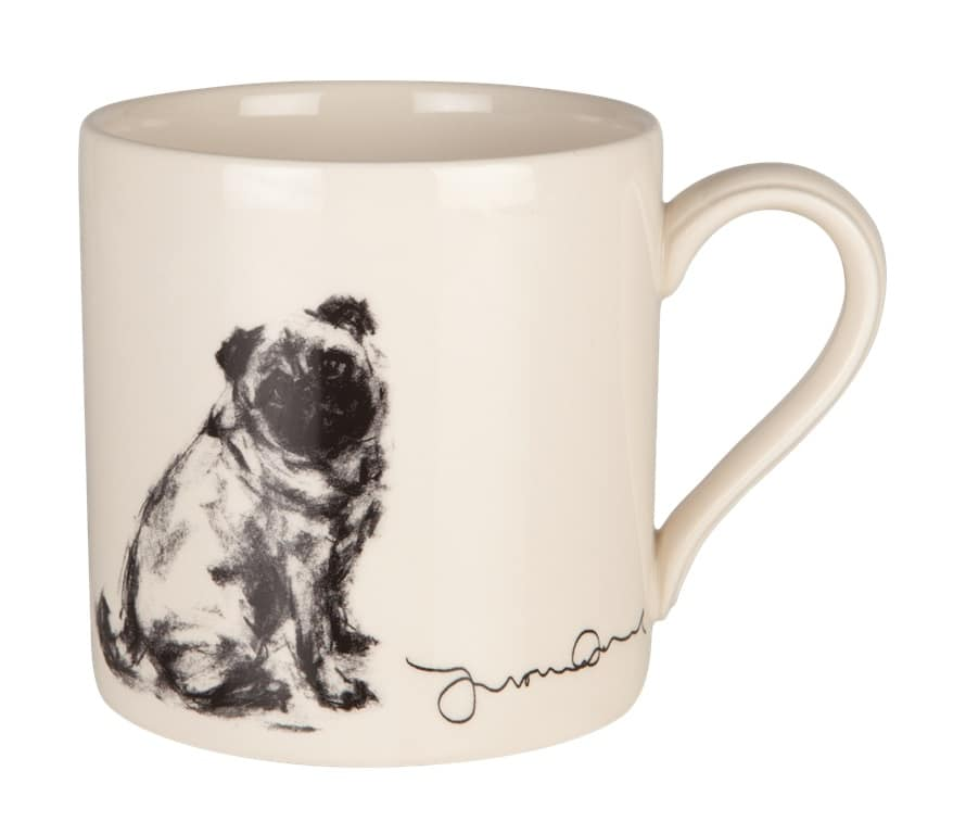 Pug Sitting Fine Art Mug