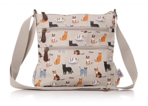 MEOW! RSPCA cat oilcloth small crossbody bag