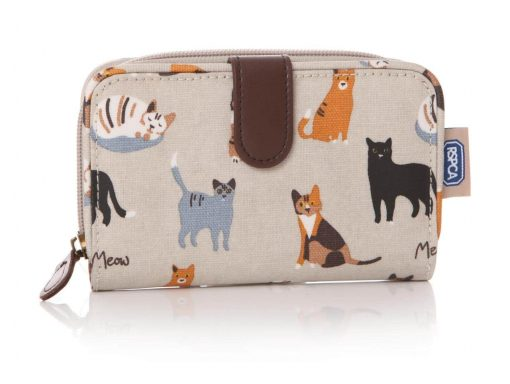 MEOW! RSPCA cat oilcloth wallet purse