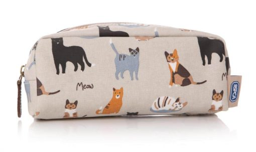 MEOW! RSPCA cat oilcloth pencil case