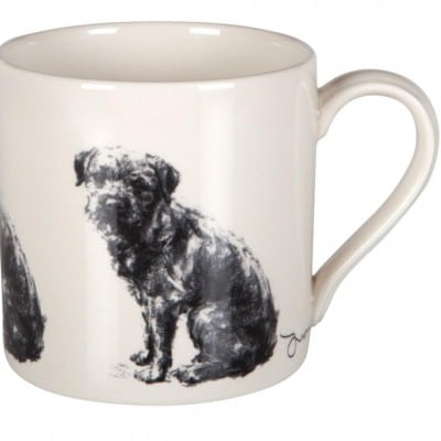 Justine Osborne Fine Art Mug Border Terrier