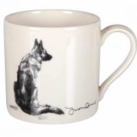 Justine Osborne Fine Art mug German Shepherd sitting