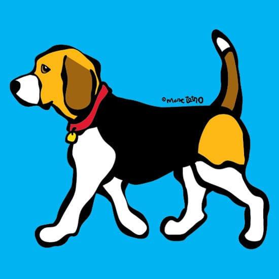 Marc Tetro Beagle on Blue Print