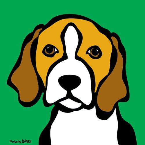 Marc Tetro Beagle on Green Print