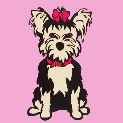 Marc Tetro Yorkshire Terrier on Pink Print