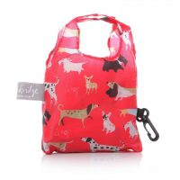 Lisa Buckridge Walkies foldable shopper red