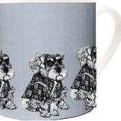 Gillian Kyle fine china mug Miniature Schnauzer