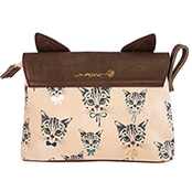 Disaster Designs Meow Cosmetic Bag Reverse